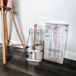 Farmhouse DecorvGalvanized Bottle Cady Kit NEW